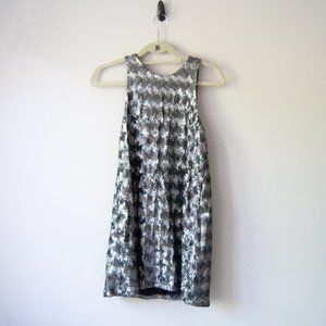 Aritzia Canterbury Silver Sequin Dress XS